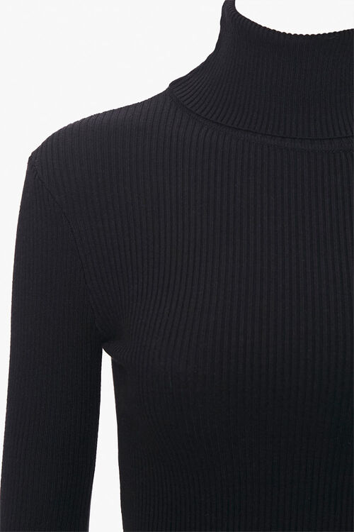 Ribbed Turtleneck Top, image 3
