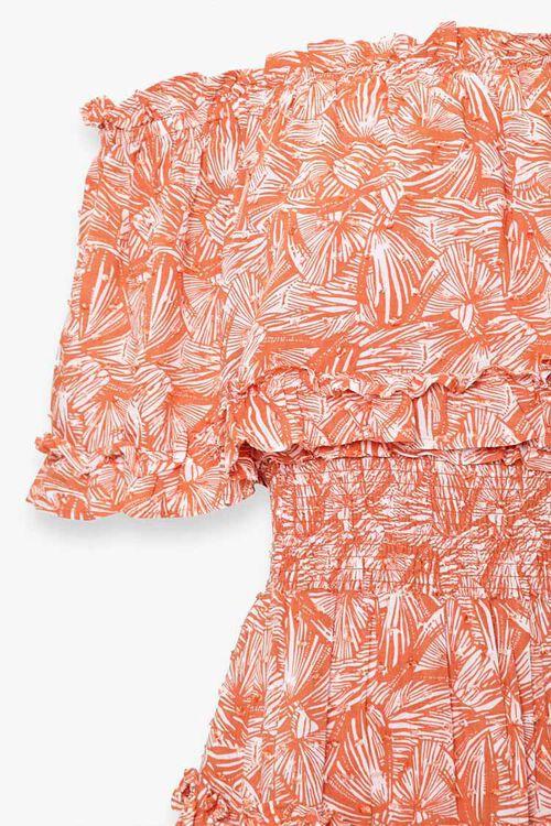 Off-the-Shoulder Geo Print Dress, image 3