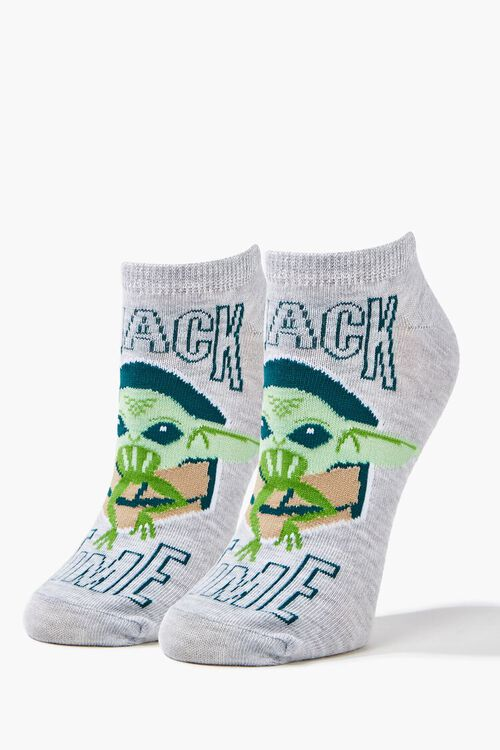 Baby Yoda Graphic Ankle Socks, image 3