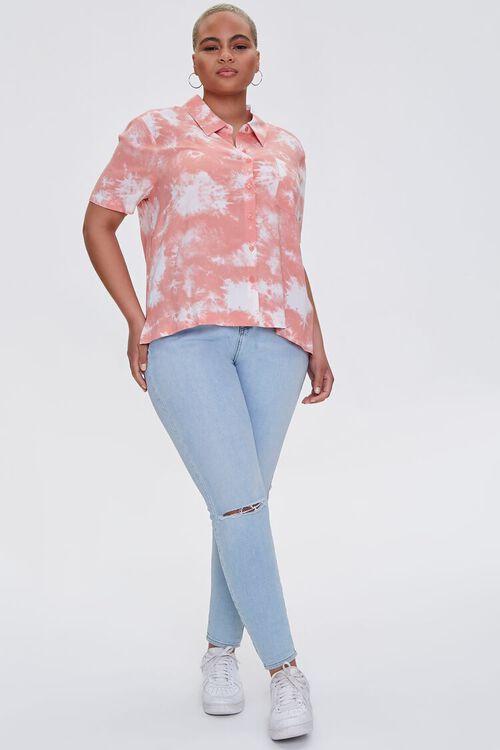 Plus Size Bleached Pocket Shirt, image 4