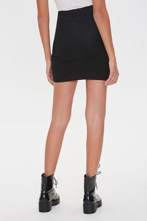 Ruched Tulip-Hem Mini Skirt, image 4