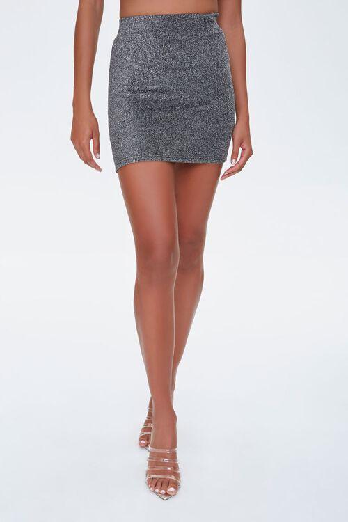 Metallic Mini Skirt, image 2