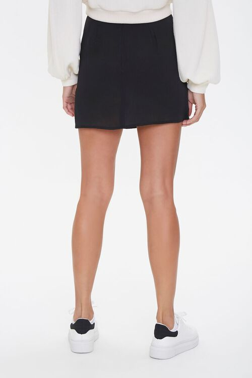 Lace-Up Satin Mini Skirt, image 4