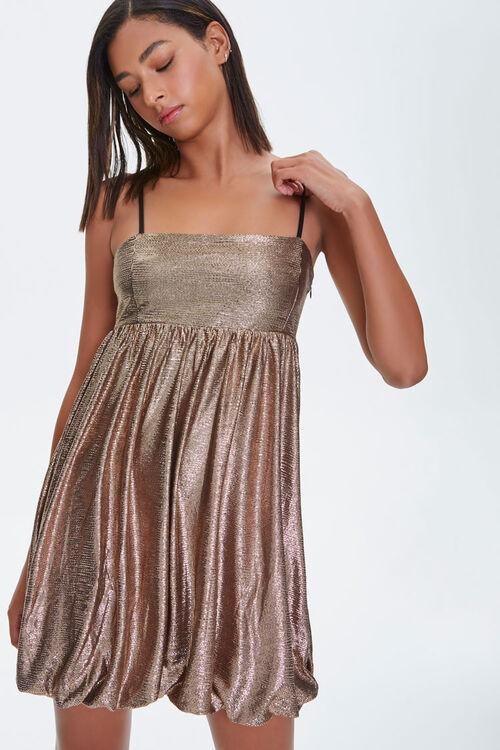 Metallic Fit & Flare Dress, image 1