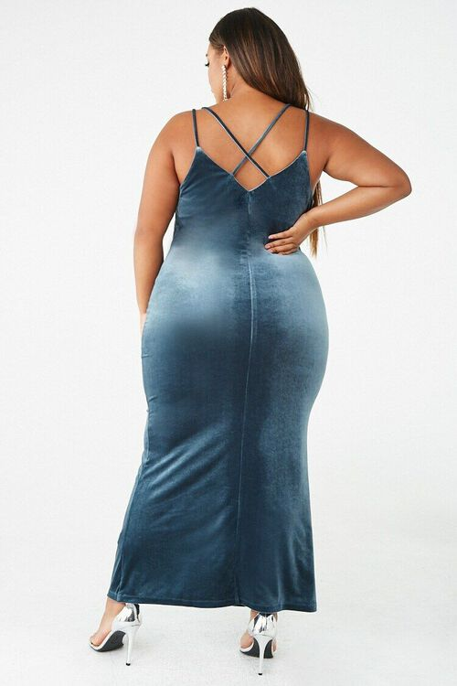 Plus Size Velvet Maxi Dress, image 3