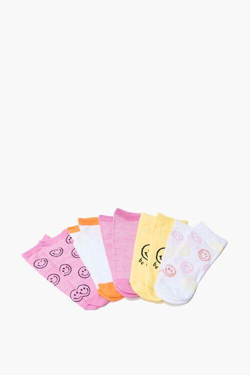 Happy Face Ankle Socks Set - 5 pack, image 2