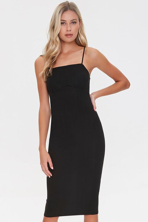 Ribbed Knit Bodycon Dress, image 4
