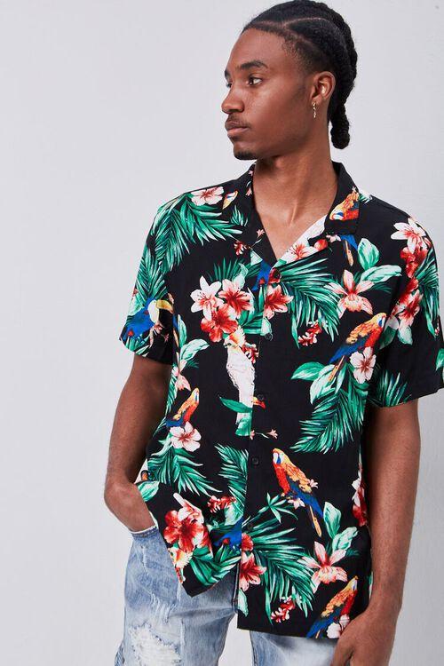 Classic Fit Tropical Print Shirt, image 1