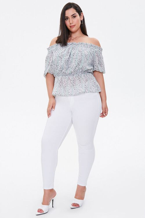 Plus Size Striped Abstract Top, image 4