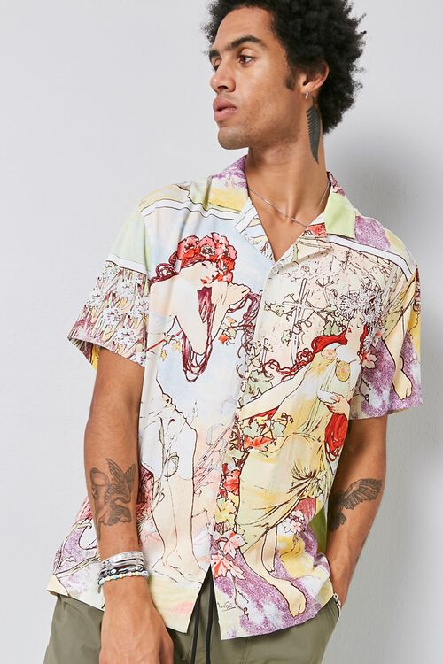Alphonse Mucha Print Shirt, image 6