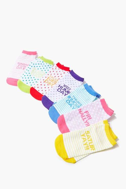 Days of the Week Ankle Socks Set, image 1
