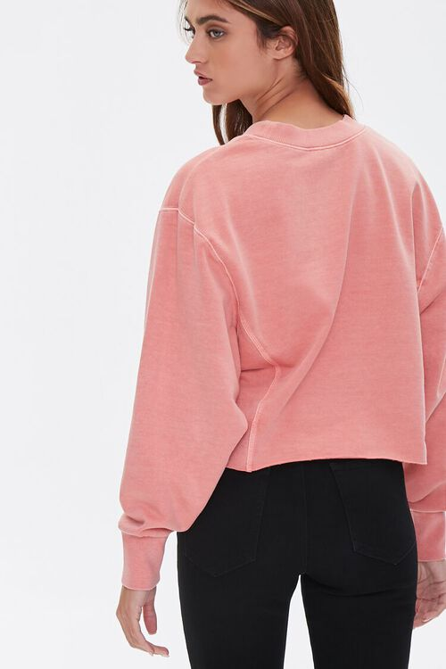 PINK French Terry Drop-Sleeve Top, image 3