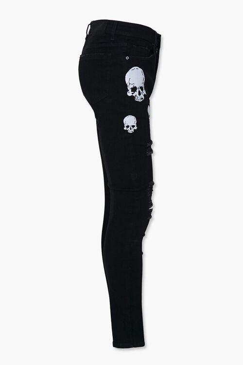 Skull Graphic Skinny Jeans, image 2