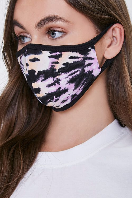 ORCHID/MULTI Abstract Print Face Mask, image 1