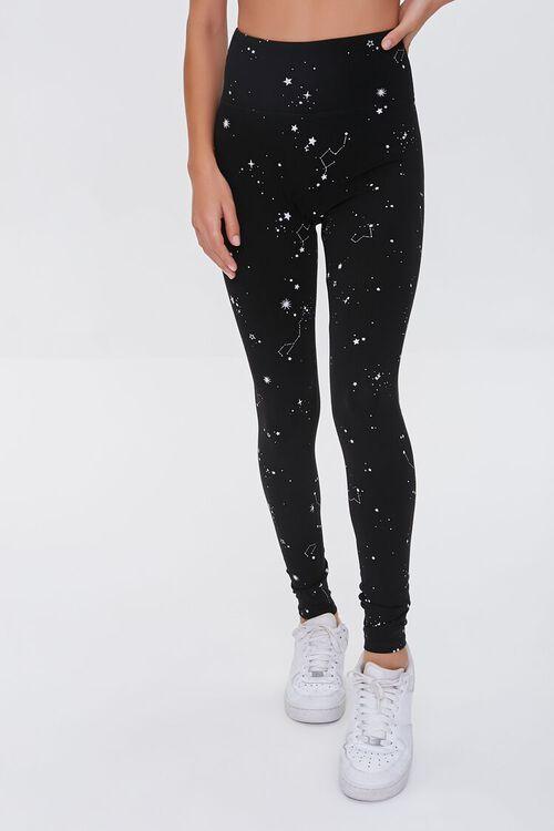 Active Constellation Print Leggings, image 2