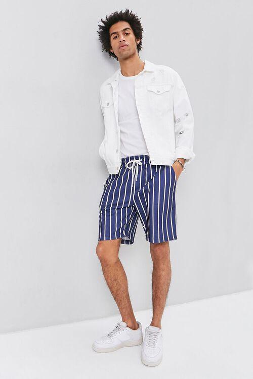 Pinstriped Drawstring Shorts, image 5