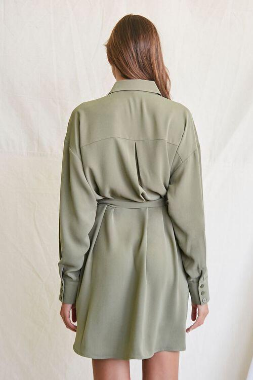 OLIVE Tie-Waist Shirt Dress, image 3