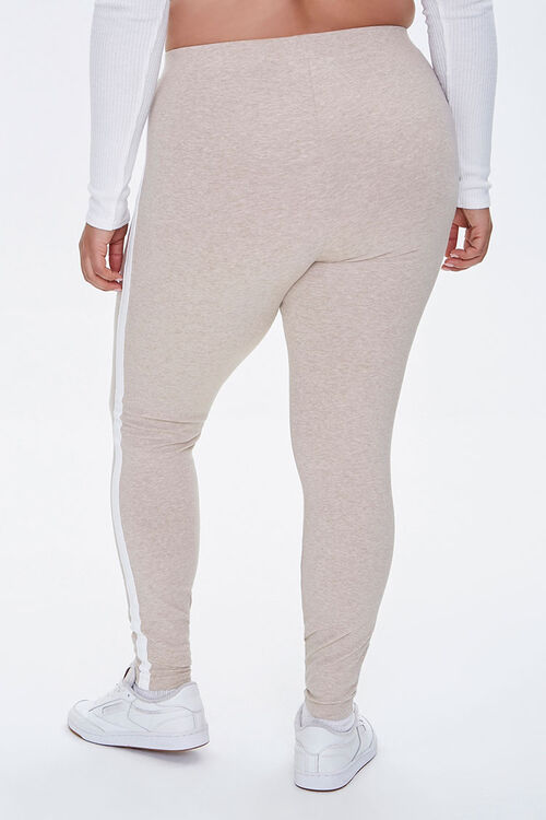Plus Size Side-Striped Leggings, image 4