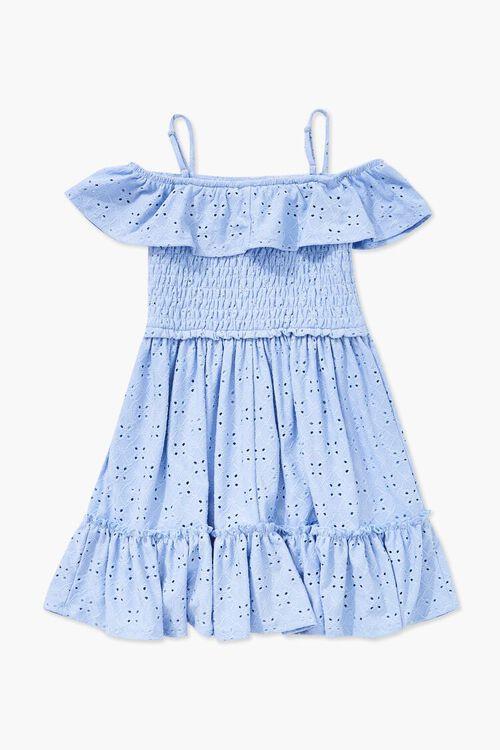 Girls Open-Shoulder Eyelet Dress (Kids), image 2