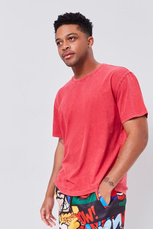 Oil Wash Crew Neck Tee, image 1