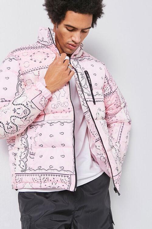 Bandana Print Puffer Jacket, image 1