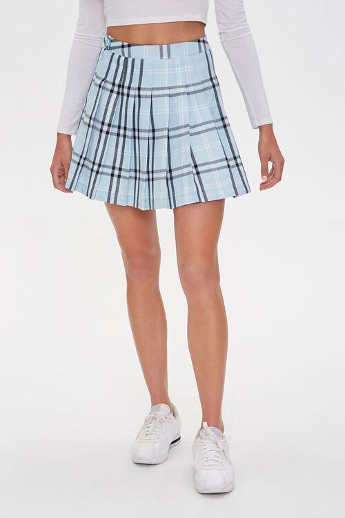 Pleated Plaid Mini Skirt, image 2
