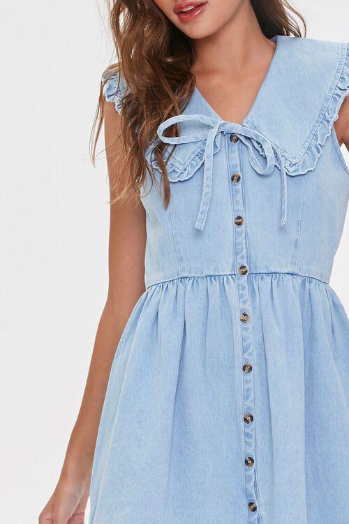 Denim Fit & Flare Dress, image 5