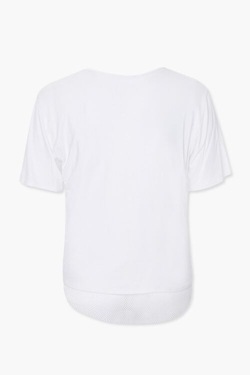 WHITE Plus Size Active Mesh-Trim Tee, image 2