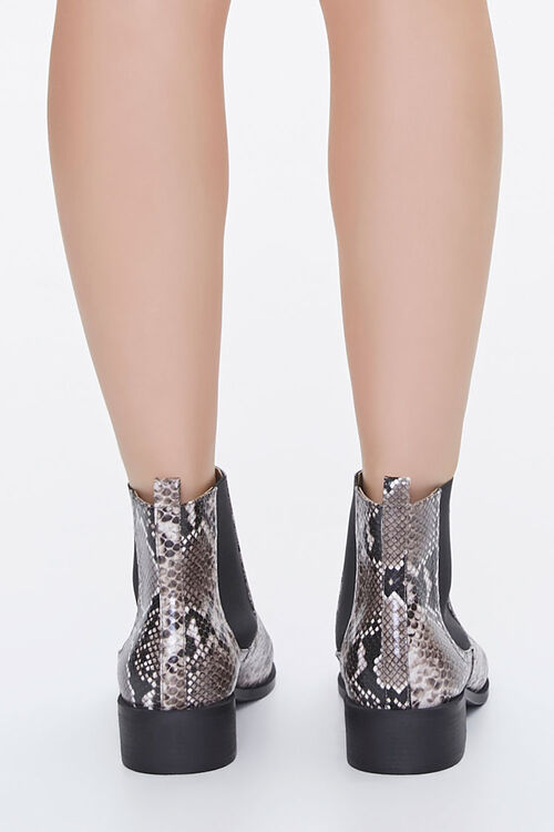 Faux Snakeskin Chelsea Boots, image 3