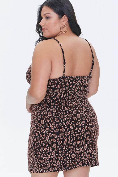 Plus Size Leopard Print Mini Dress, image 3