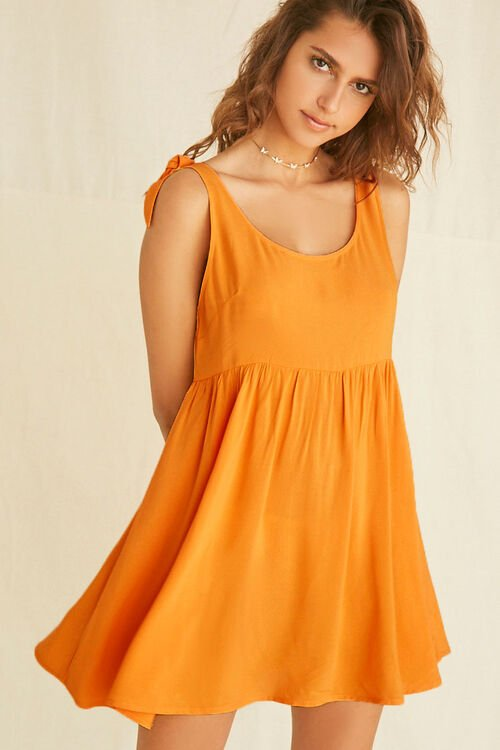 Knotted Fit & Flare Dress, image 1