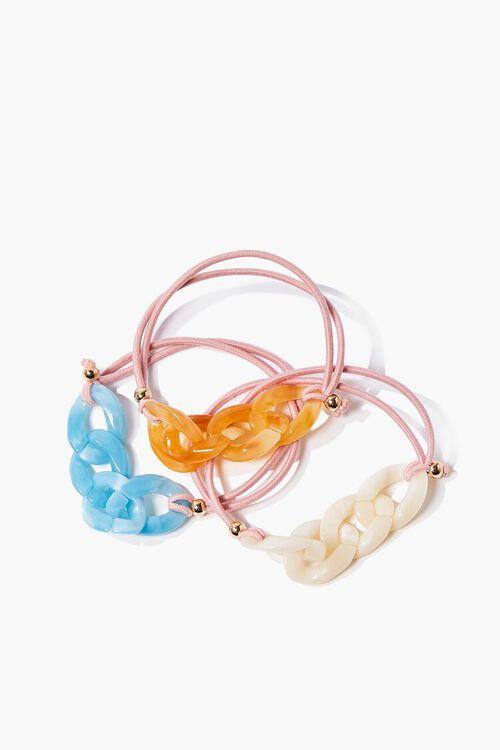 PINK/MULTI Chain Hair Tie Set, image 1