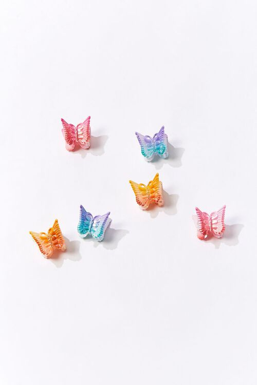 PINK/MULTI Mini Butterfly Claw Clips, image 1