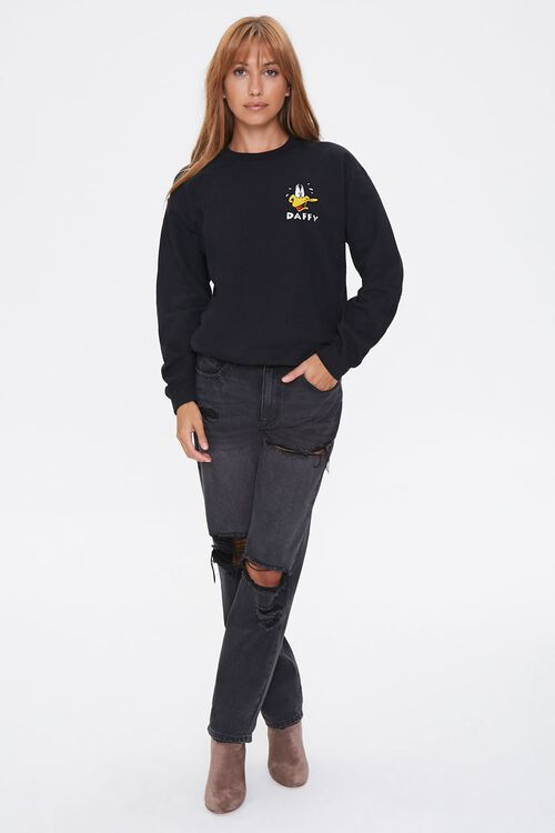 Daffy Duck Embroidered Graphic Pullover, image 4