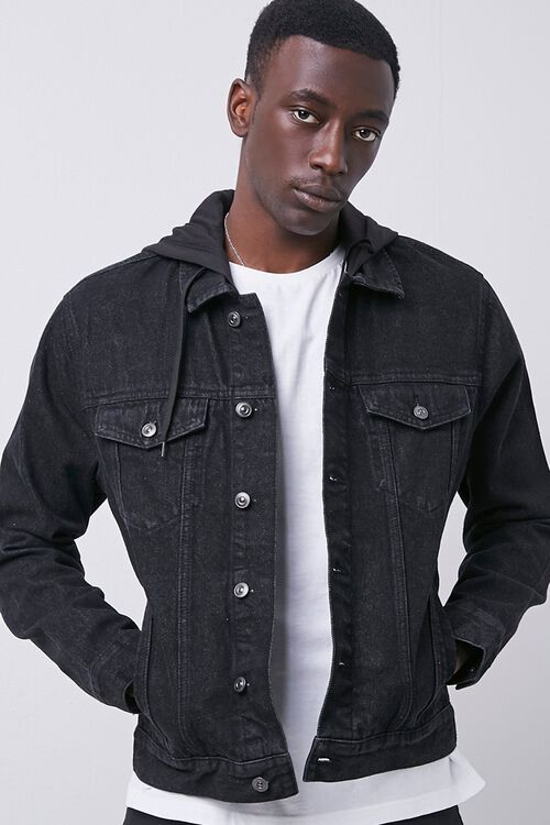 Hooded Denim Jacket, image 5
