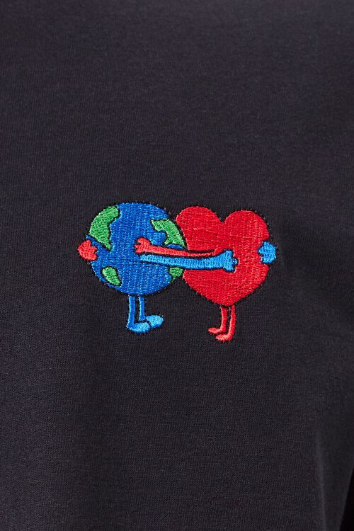 Earth Heart Embroidered Graphic Tee, image 5