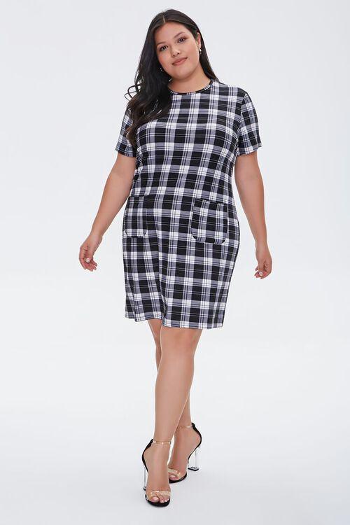 Plus Size Gingham T-Shirt Dress, image 4
