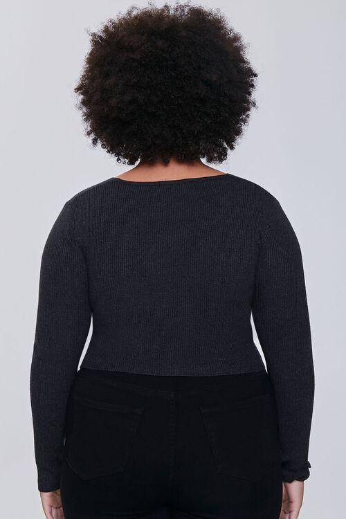 BLACK Plus Size Twisted Sweater, image 3