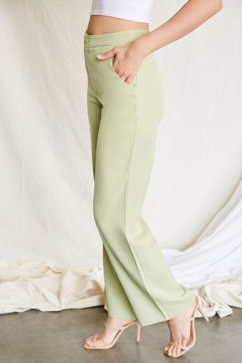 GREEN Buttoned Wide-Leg Pants, image 3