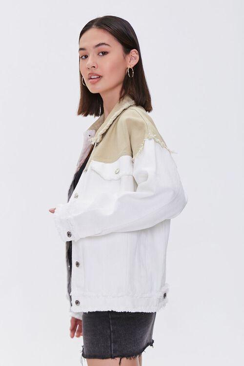 Frayed Colorblock Denim Jacket, image 2
