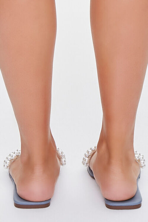Faux Pearl Slip-On Sandals, image 3