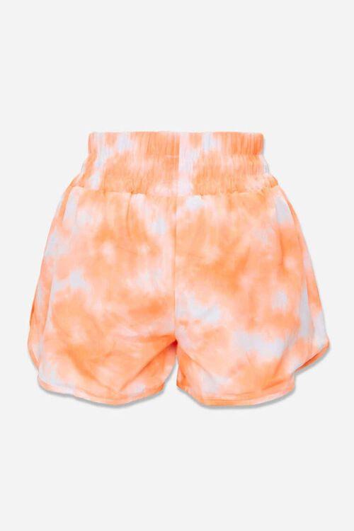 ORANGE/WHITE Tie-Dye Dolphin Shorts, image 3