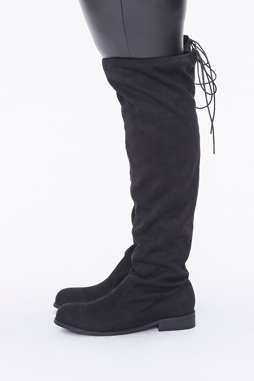 Thigh-High Faux Suede Boots (Wide), image 2