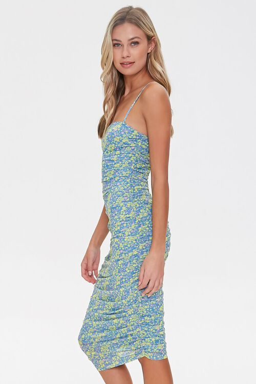 Ruched Floral Bodycon Dress, image 2