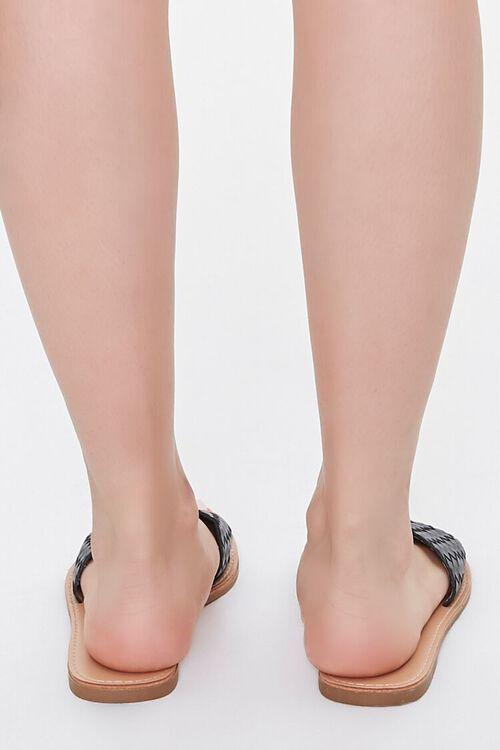 Basketwoven Square-Toe Sandals, image 3