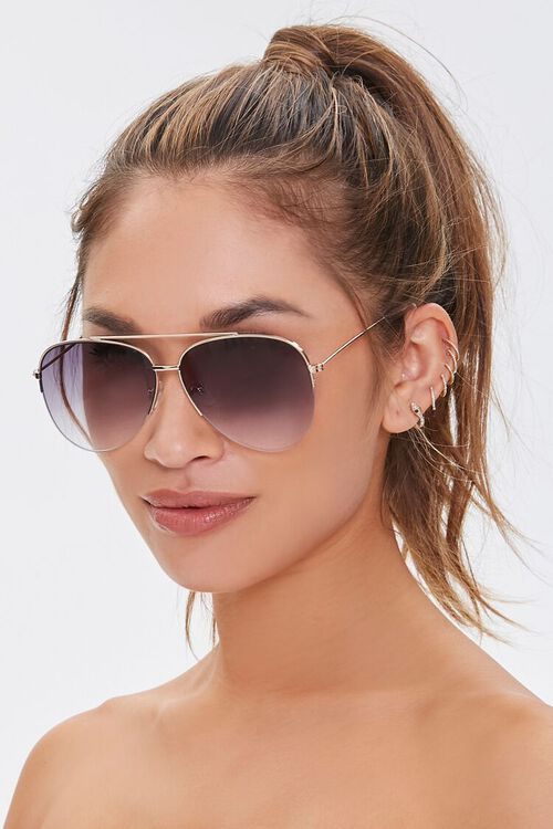 Aviator Metal Sunglasses, image 1
