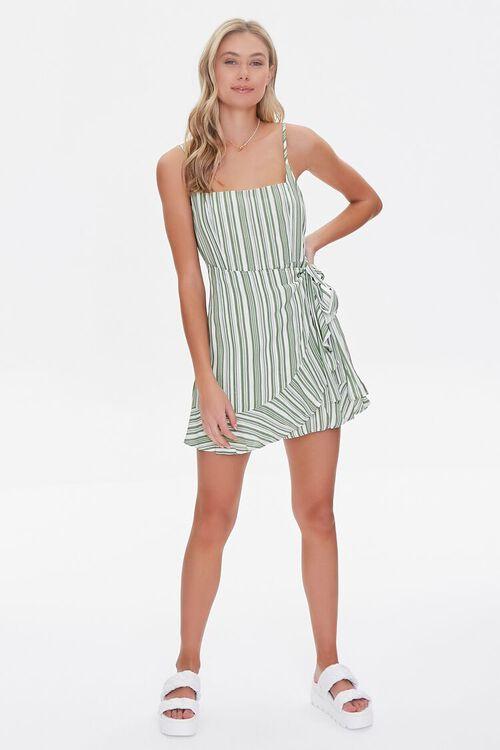 Striped Faux Wrap Dress, image 4