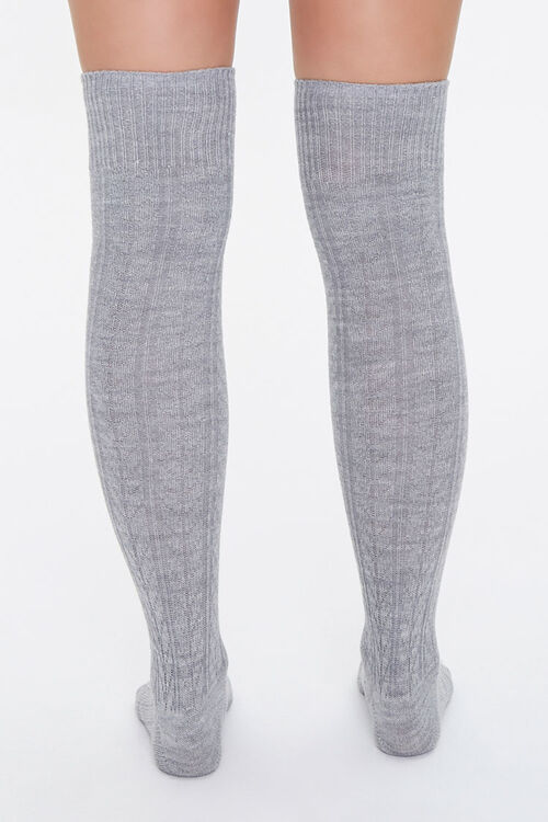 Cable Knit Over-the-Knee Socks, image 3