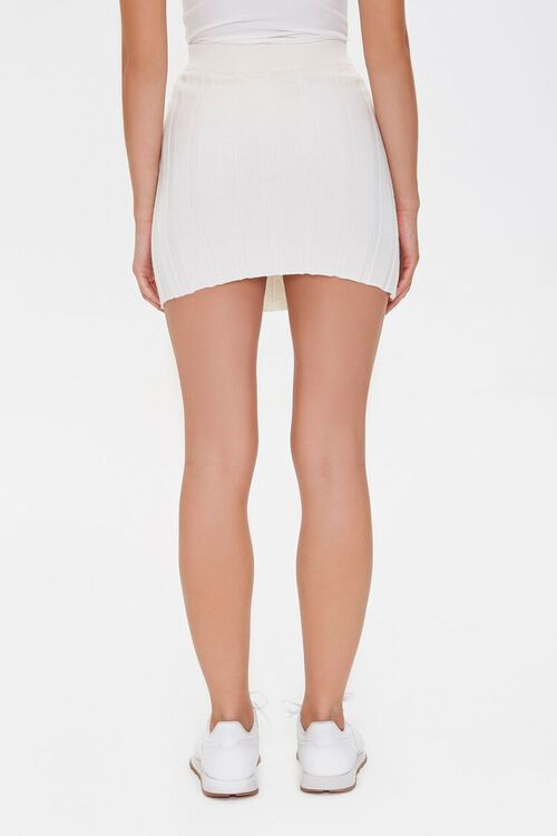CREAM Wide-Ribbed Mini Skirt, image 4