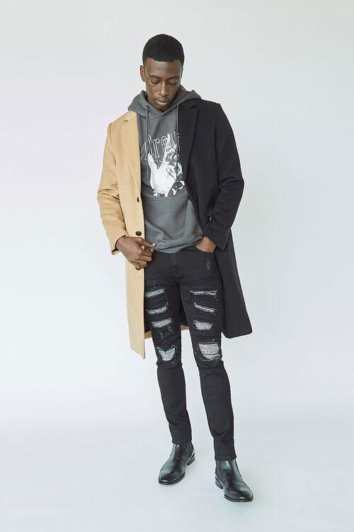 Rhinestone Distressed Slim-Fit Jeans, image 1